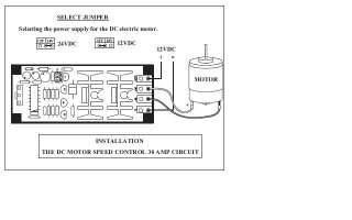 DC MOTOR SPEED CONTROL 30 AMP 12 24 VOLT