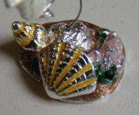 Swarovski Mini Silver Pewer Enamel Gold Fish Figure  