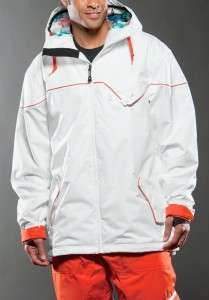 NEW Oakley Mens winter ski snowboard JACKET White/Orange M/L/XXL