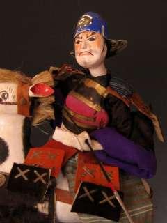 Japanese Edo Period Takeda Doll, Samurai on Horse