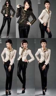 CJ217 women jacket blazer power shoulder beading embroidery ivory