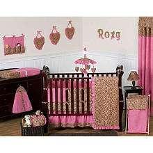 JoJo Designs Cheetah Girl Collection 9 Piece Crib Bedding Set   JoJo