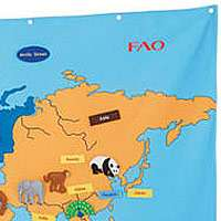 FAO Schwarz Big World Map   FAO Schwarz