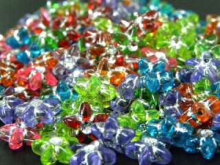 Pcs) Wholesale Assorted Color Star Line Plastic Loose Beads Craft Kit