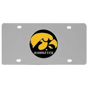 Iowa Hawkeyes Logo License Plate   NCAA College Athletics
