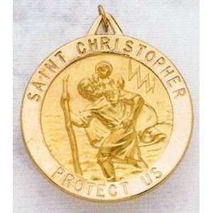 Saint Christopher Medal   33.0 mm (1 1/4 inch) Sterling