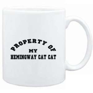 Mug White  PROPERTY OF MY Hemingway Cat  Cats