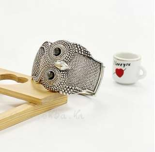 New Vintage Charm Knowledgeable Big Eyes Owl Bangle Bracelet Can Open