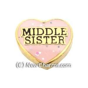 Middle Sister Floating Locket Charm