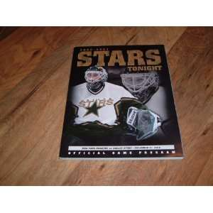 Dallas Stars vs. New York Rangers, Official Game Program