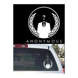 Anonymous Car or Truck Rear Window Decal