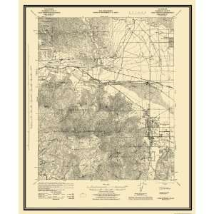 USGS TOPO MAP PALM SPRINGS QUAD CALIFORNIA (CA) 1928 Home