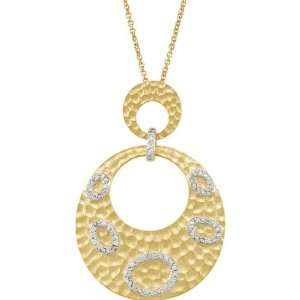 68120 Ster 14K Yellow Gold Plated 16.00 Inch Cz Necklace W/2 Extender