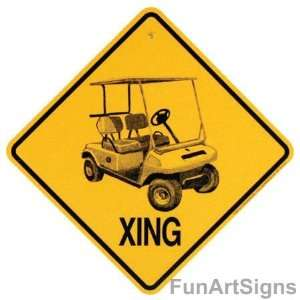 Golf Cart Xing (Crossing) Sign
