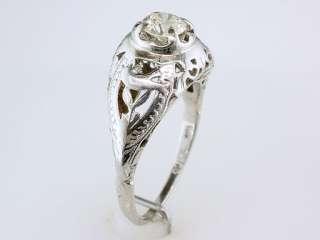 Genuine Diamond .35ct 18K White Gold Engagement Wedding Ring