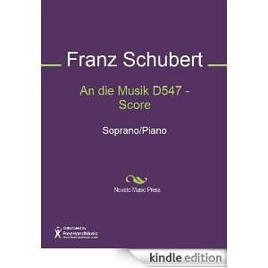 Score Sheet Music (Score): Franz Schubert:  Kindle Store