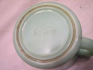 FIRE KING JADEITE JADE GLASS D HANDLE COFFEE CUP MUG