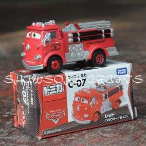 CARS TAKARA TOMY TOY C 07 2.8 RED FIRE TRUCK PUMPER FIGURE