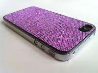 GLITTER HARD CASE FOR APPLE IPHONE 4G 4S + SCREEN PROTECTOR