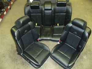 06 07 Infiniti M45 M35 Black Leather Front Rear Seats