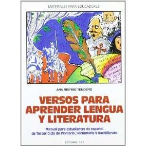 Versos para aprender lengua y literatura  manual para estudiantes