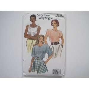 Vogue Pattern 8062 Misses/Misses Petite Blouse Sizes 12