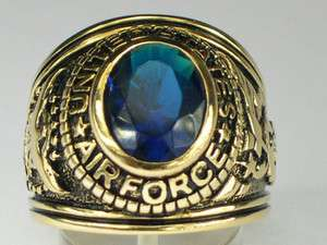 SEPTEMBER BLUE MONTANA UNITED STATES MILITARY AIR FORCE MEN RING