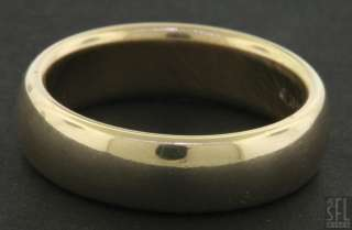 TIFANY & CO. 1999 HEAVY 18K GOLD MENS WEDDING BAND RING SIZE 9