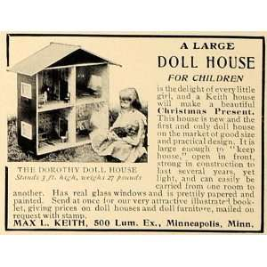 1906 Ad Dorothy Doll House Max L. Keith Christmas Gift