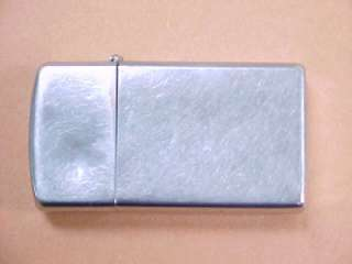 Vintage 1959 ZIPPO Slim Line Cigarette Lighter engraved case