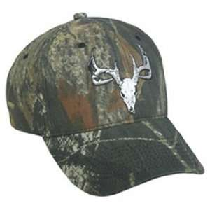 Deer Skull Logo Hat, Mossy Oak New Break Up Deer Skull