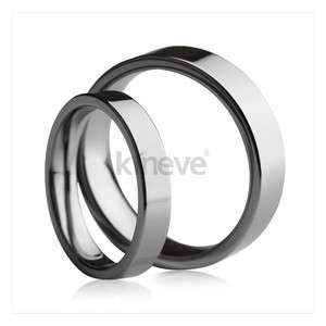 Tungsten Carbide Ring Silver Tone Engagement Wedding Band Couple ring