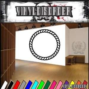 Western Rope Ring NS001 Vinyl Decal Wall Art Sticker Mural