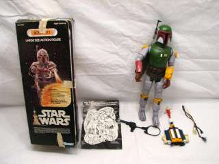 RARE BOBA FETT LG 13 STAR WARS ACTION FIGURE IOB 1979