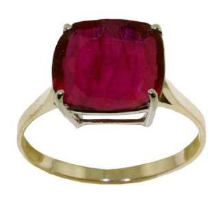 GAT 14K. SOLID GOLD RING WITH NATURAL CUSHION SHAPE RUBY