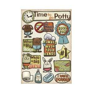 Potty Training Time To Go Potty Cardstock Stickers