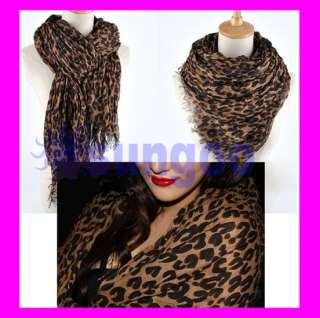 Hot Large Animal Leopard Prints Shawl Scarf