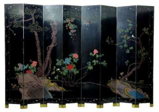 1920S CHINESE LAQUER 8 FOLD SCREEN