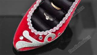 Shoe Ring Red and Silver Jewelry Display Holder Stand Rack Top