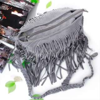 Fx Suede Fringe Tassel Cross Shoulder Messenger Bag Hot