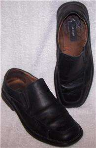 10M/43 Alfani Venus BLACK LEATHER DRESS LOAFER Slip On Dress Shoes Men