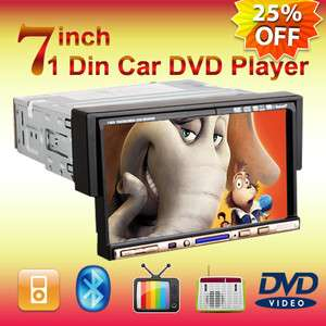 Din 7 Car Stereo DVD Player Radio IPod Bluetooth Mic Touch Screen
