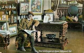CA HOLLYWOOD PAUL DE LONGPRE AT HOME CIRCA 1912 M48233