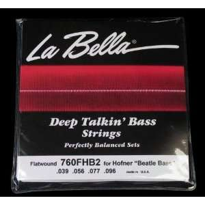 La Bella Hofner Beatle Bass Style Flatwound Stainless