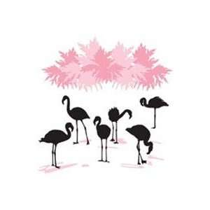Hip In A Hurry Vinyl 35 Inch   Flock Of Flamingos: Arts