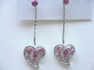 Swarovski Crystal Heart Shaped Earringsfree ship