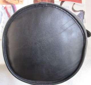 398 BEAUTIFUL COACH VINTAGE BLACK LEATHER X LARGE HOBO DUFFLE