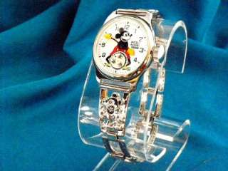 VINTAGE 1930S ORIGINAL MICKEY MOUSE ACTION WATCH + BOX REPRODUCTION