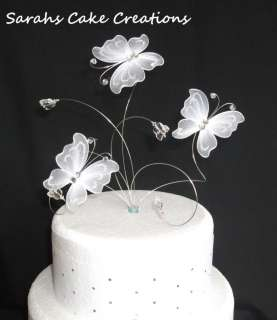 Stunning Butterfly Wedding Cake Topper (or set)
