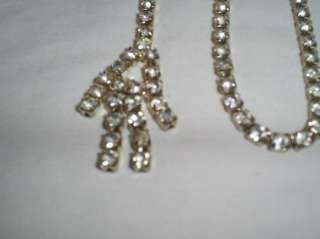 38 Prong Set Clear Shiny Rhinestone Necklace Belt